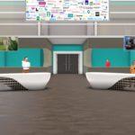 Lobby der virtuellen Messehalle