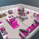 virtuelle Messehalle von oben