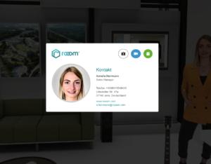 virtuelle Visitenkarte mit Interaktionen