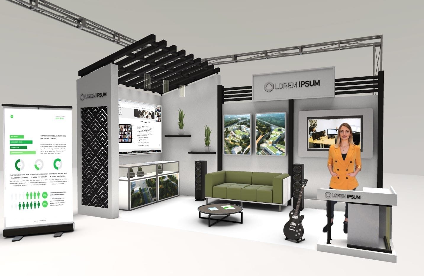 3d Messestand rooom
