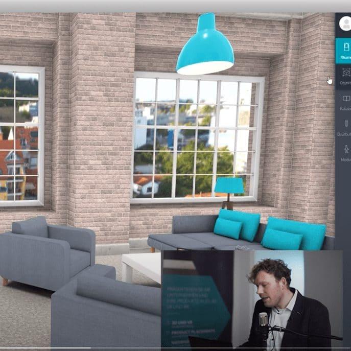 On-Site Betreuung des virtuellen Events