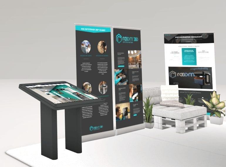 Roll-ups virtuelle Messe