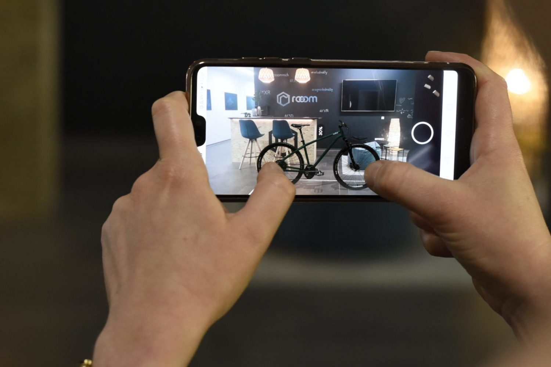 Augmented Reality Projektion Fahrrad